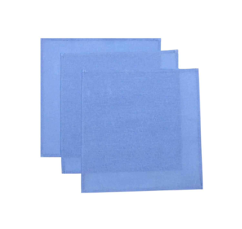 Комплект носовых платков 32*32 см, бязь однотонная, 10 шт. (Голубой цвет)