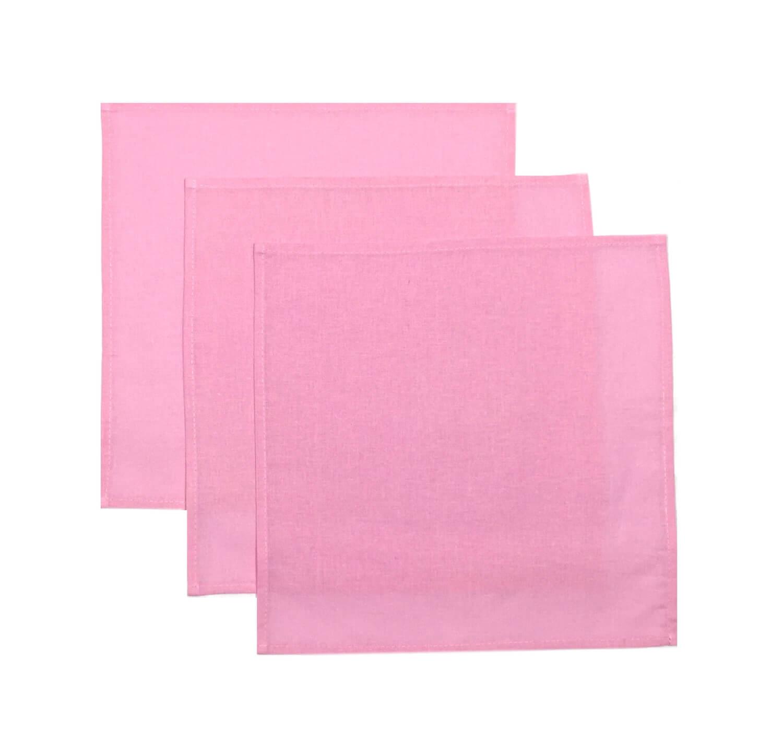 Комплект носовых платков 32*32 см, бязь однотонная, 10 шт. (Розовый цвет)