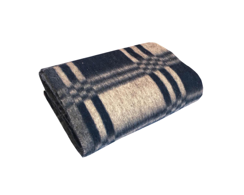 Одеяло полушерстяное 100*140 см. Плотность 600г/м2 (Уют, темно-синий)
