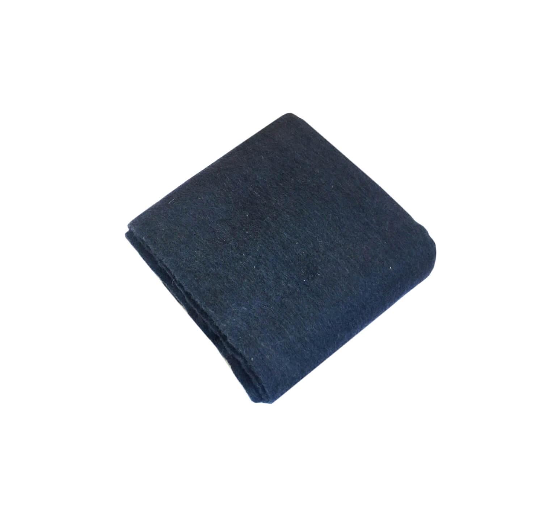 Одеяло полушерстяное 1,5-спальное. Плотность 400 г/м2 (Темно-синий)