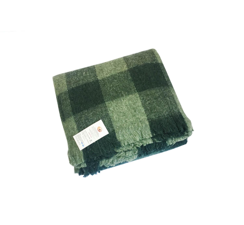 Одеяло пледовое п/ш 152*210 см. (Мадрид, изумрудный, вид 1)