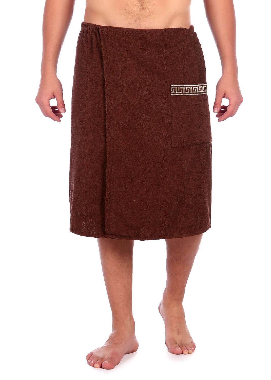 Килт-полотенце на липучке,100 % хлопок (Коричневый)