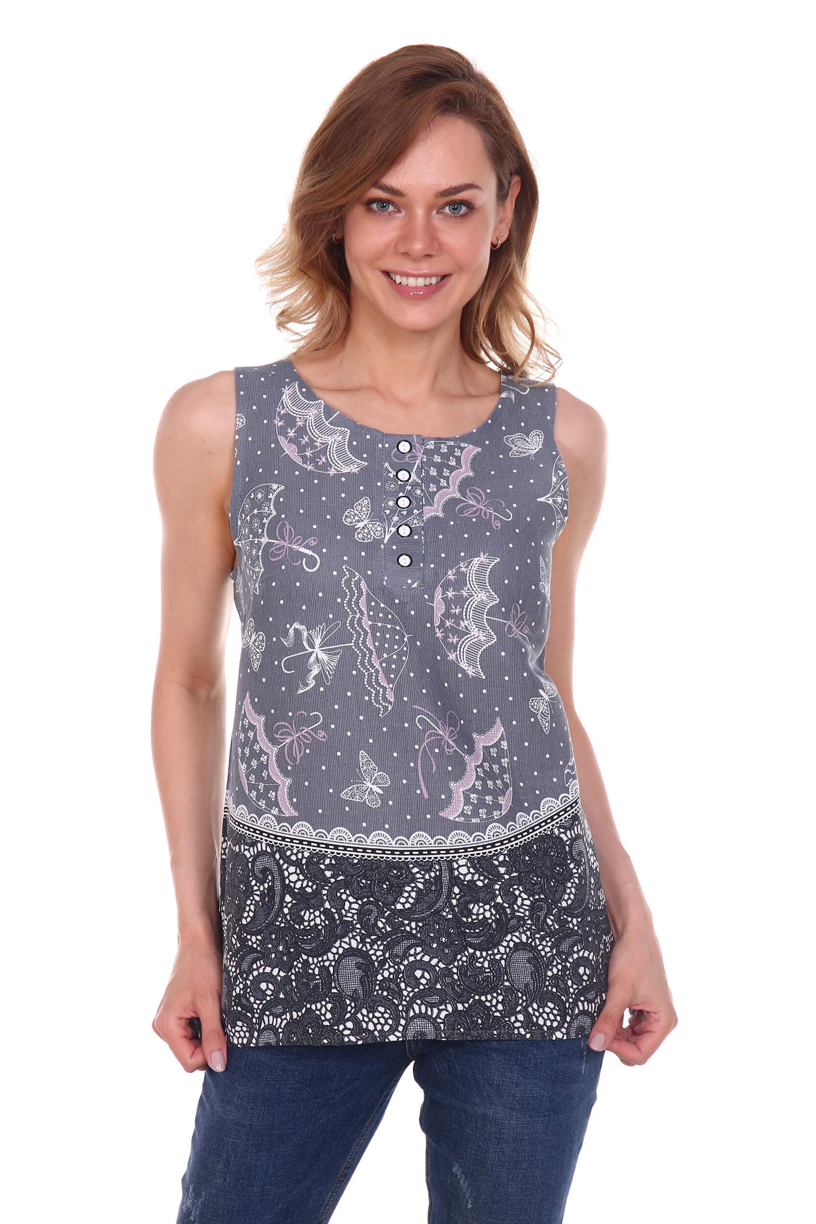 Блузка женская, модель 136, рогожка, хлопок 100 % (Беатрис)