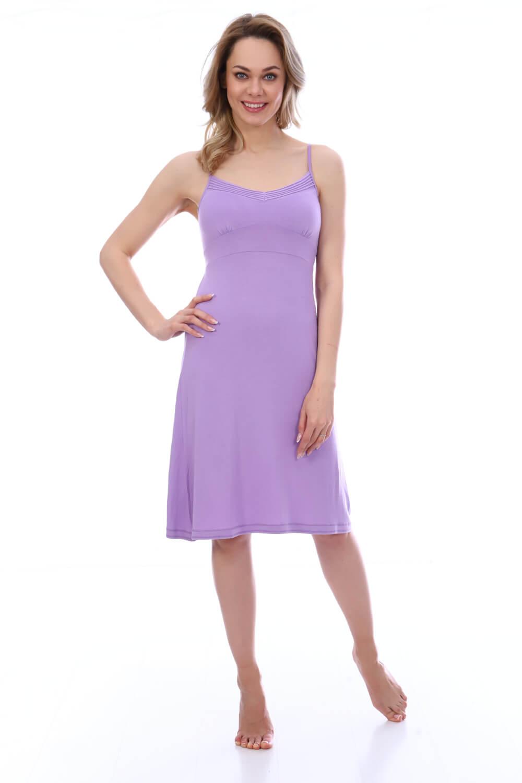 Сорочка женская, модель 19200015, трикотаж (Сиреневый)