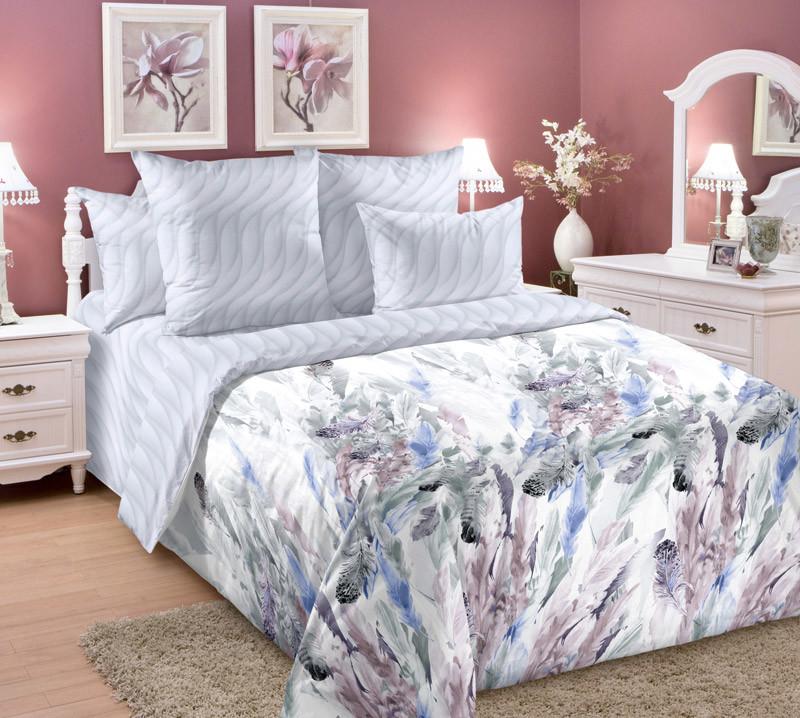 Комплект постельного белья зима-лето, 1,5-спальный перкаль (Легкость)