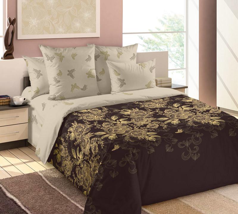 Комплект постельного белья зима-лето, 2-спальный перкаль (Золотая нить)