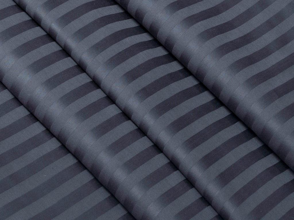 Комплект постельного белья 2-спальный, сатин-страйп, с Европростыней (Баклажан)