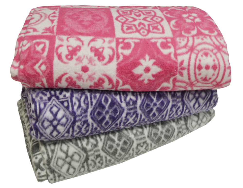 Одеяло байковое 140х205 жаккард