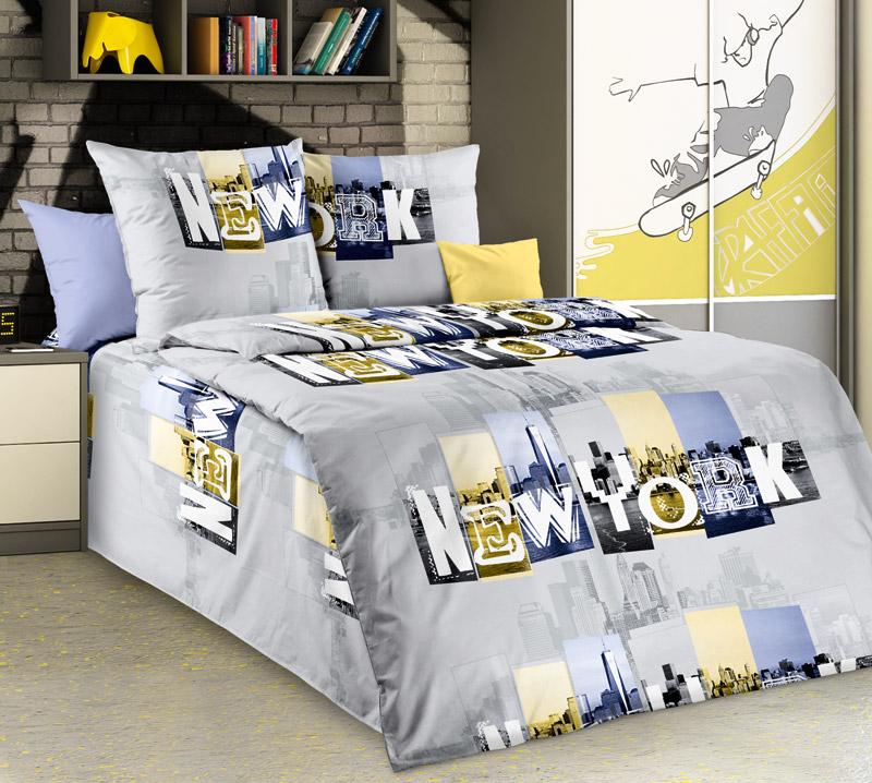 """Комплект постельного белья 1,5-спальный, бязь """"Люкс"""" (Манхэттен)"""