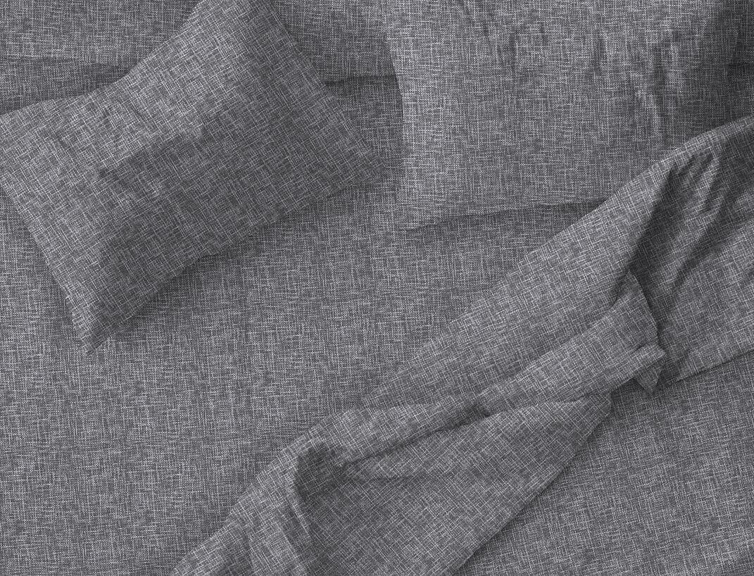 """Пододеяльник Евромакси 240*220 см, бязь """"Комфорт"""" (Натурель, серый)"""