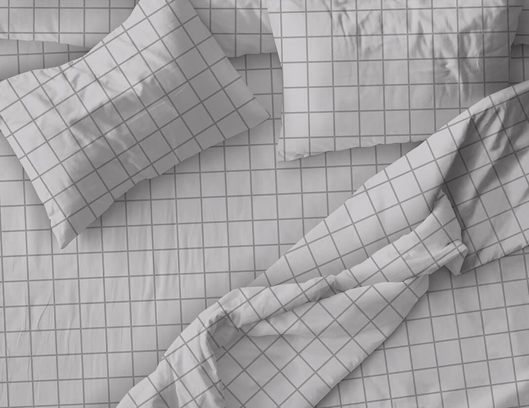 """Пододеяльник 1,5-спальный, бязь """"Комфорт"""" (220) (Таттерсол, светло-серый)"""