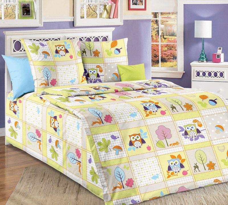"""Пододеяльник 112*147 см в детскую кроватку, бязь """"Люкс"""" (Дорис, зеленый)"""