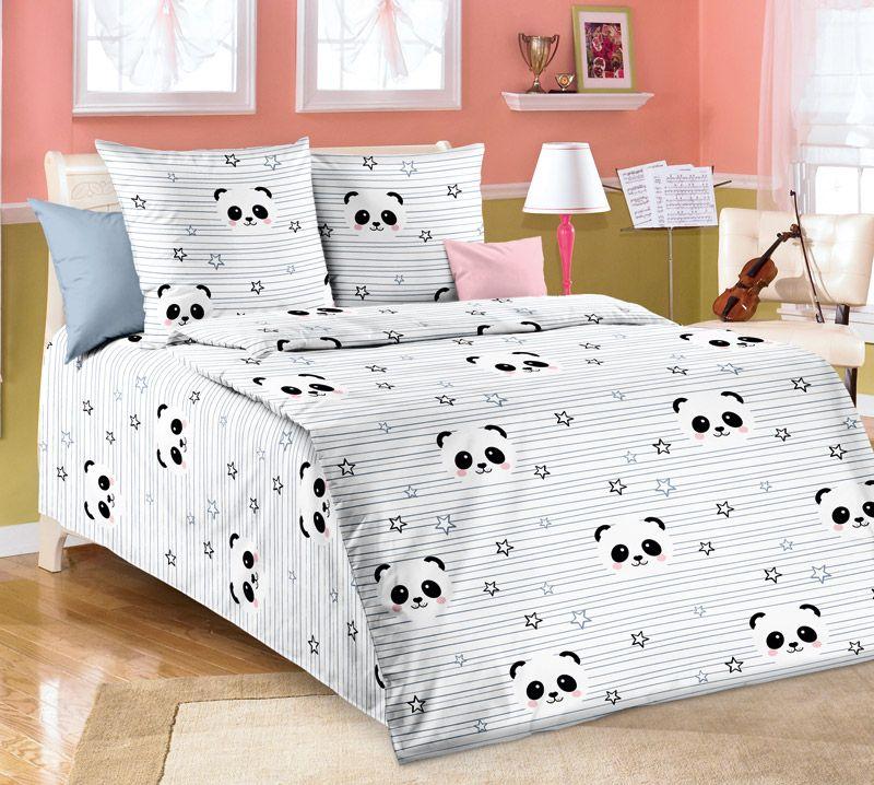 """Пододеяльник 1,5-спальный, бязь """"Люкс"""", детские расцветки (Бамбуковый мишка)"""