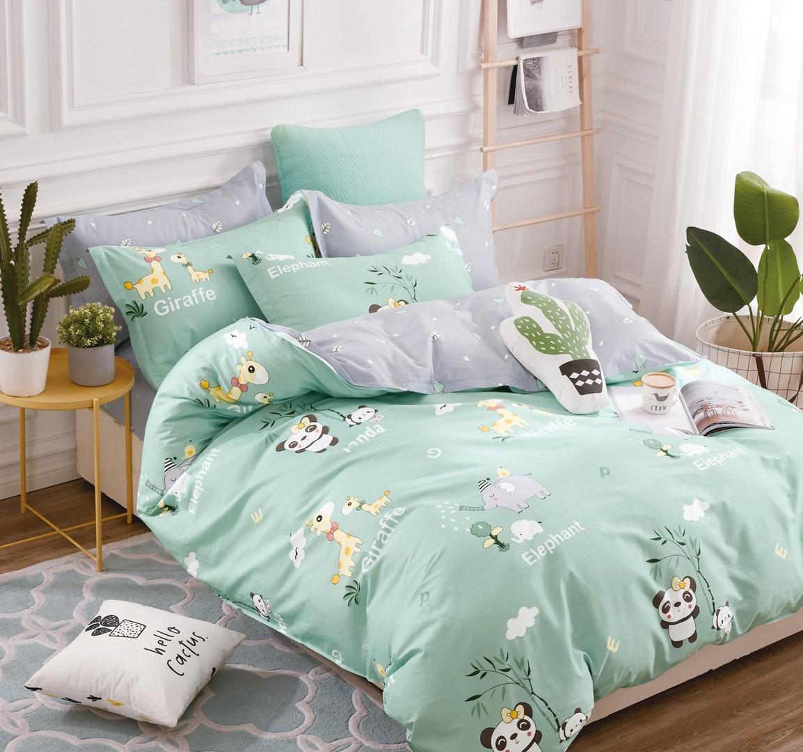 Комплект постельного белья 1,5-спальный, поплин (Африка)