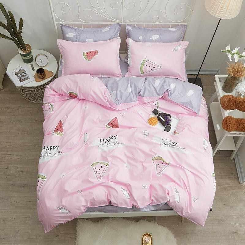 Комплект постельного белья 1,5-спальный, поплин (Хеппи)