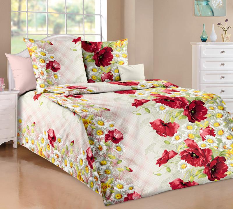 """Комплект постельного белья 1,5-спальный, бязь """"Люкс"""" (Волшебные краски)"""