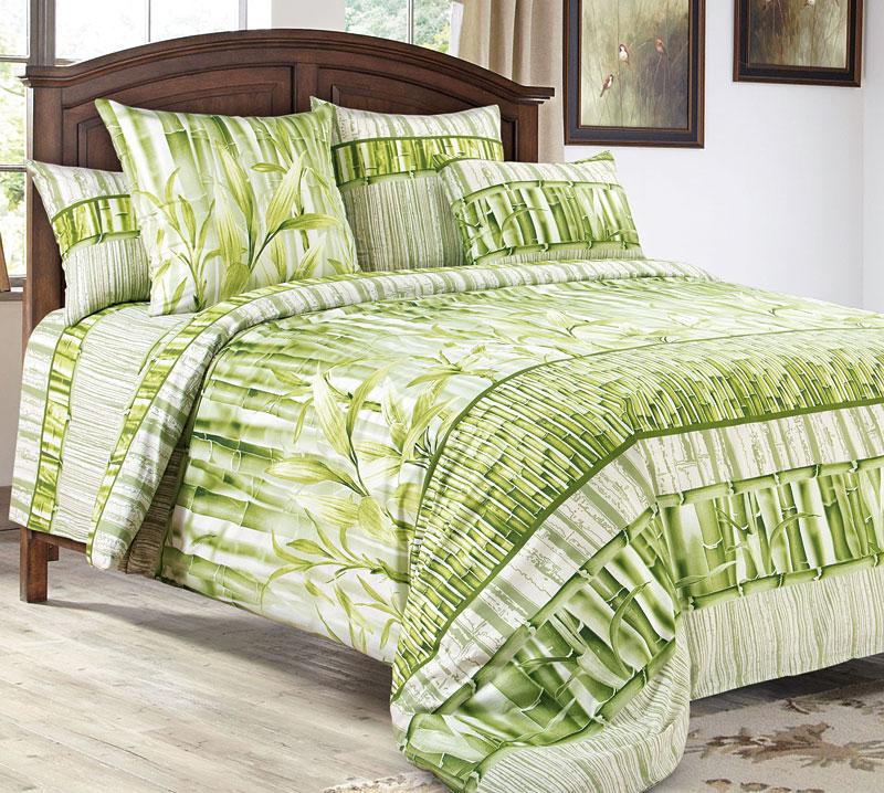 """Комплект постельного белья 1,5-спальный, бязь """"Люкс""""(220) (Бамбук 3 D)"""