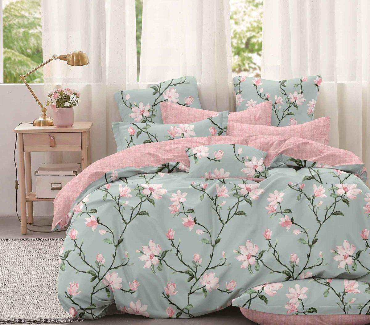 Комплект постельного белья Евромакси, поплин (Нежность утра)