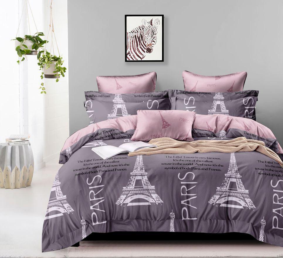 Комплект постельного белья 2-спальный, поплин (Стиль де франс)