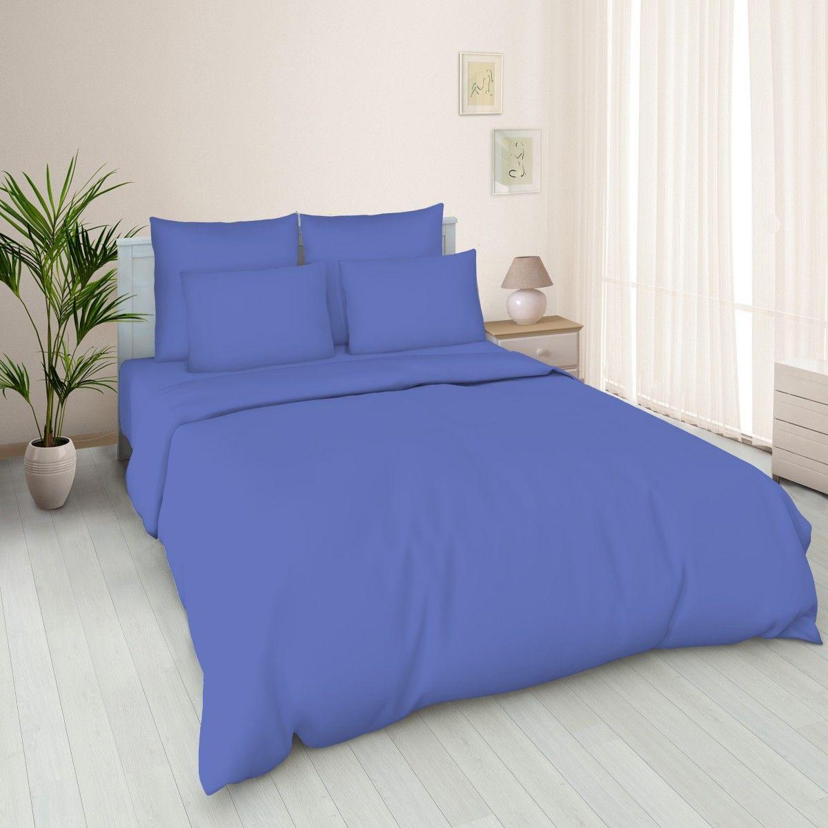 Пододеяльник 2-спальный, поплин гладкокрашенный (Василек)