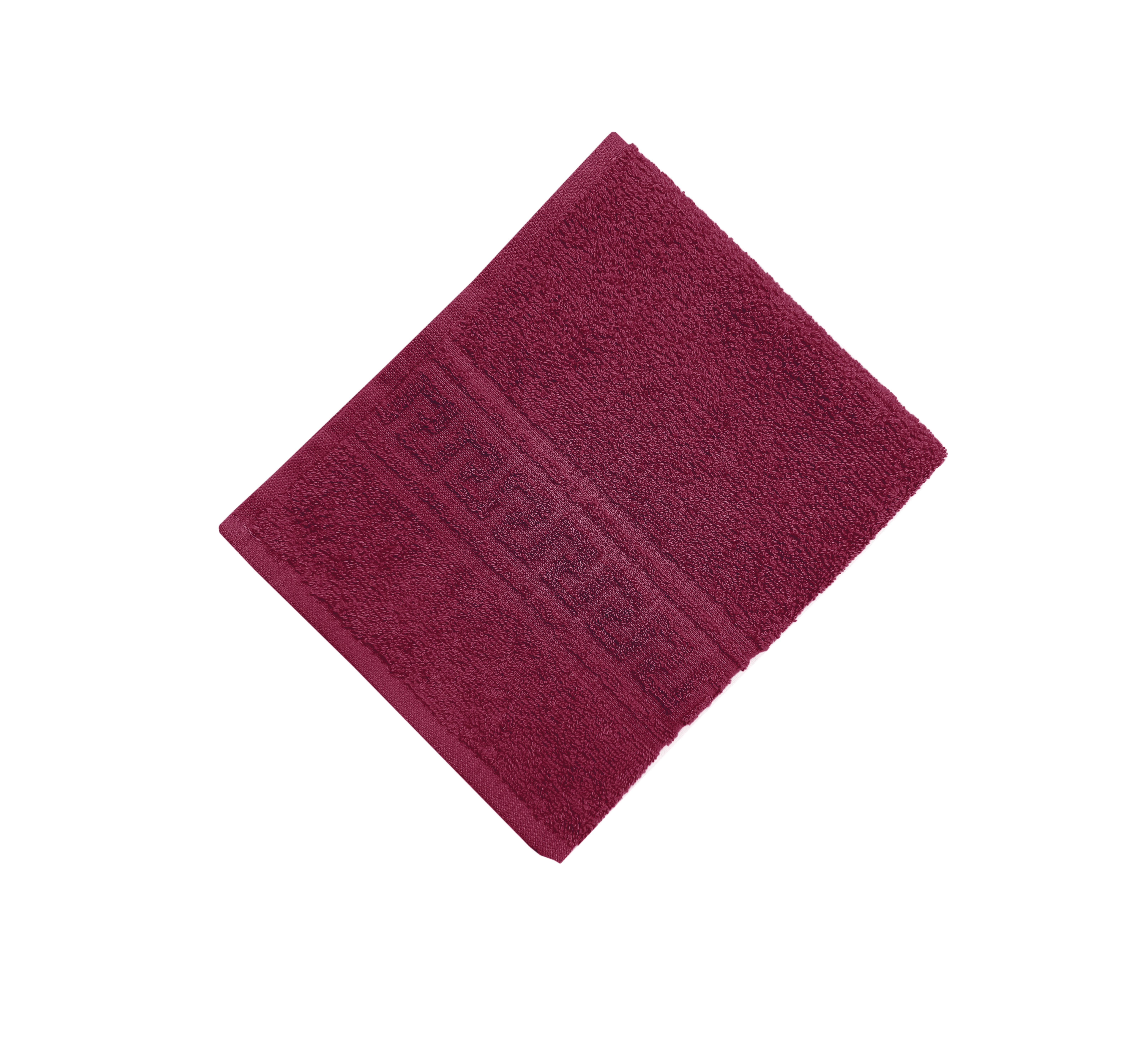 Махровое гладкокрашенное полотенце 70*140 см 380 г/м2 (Бордовый)