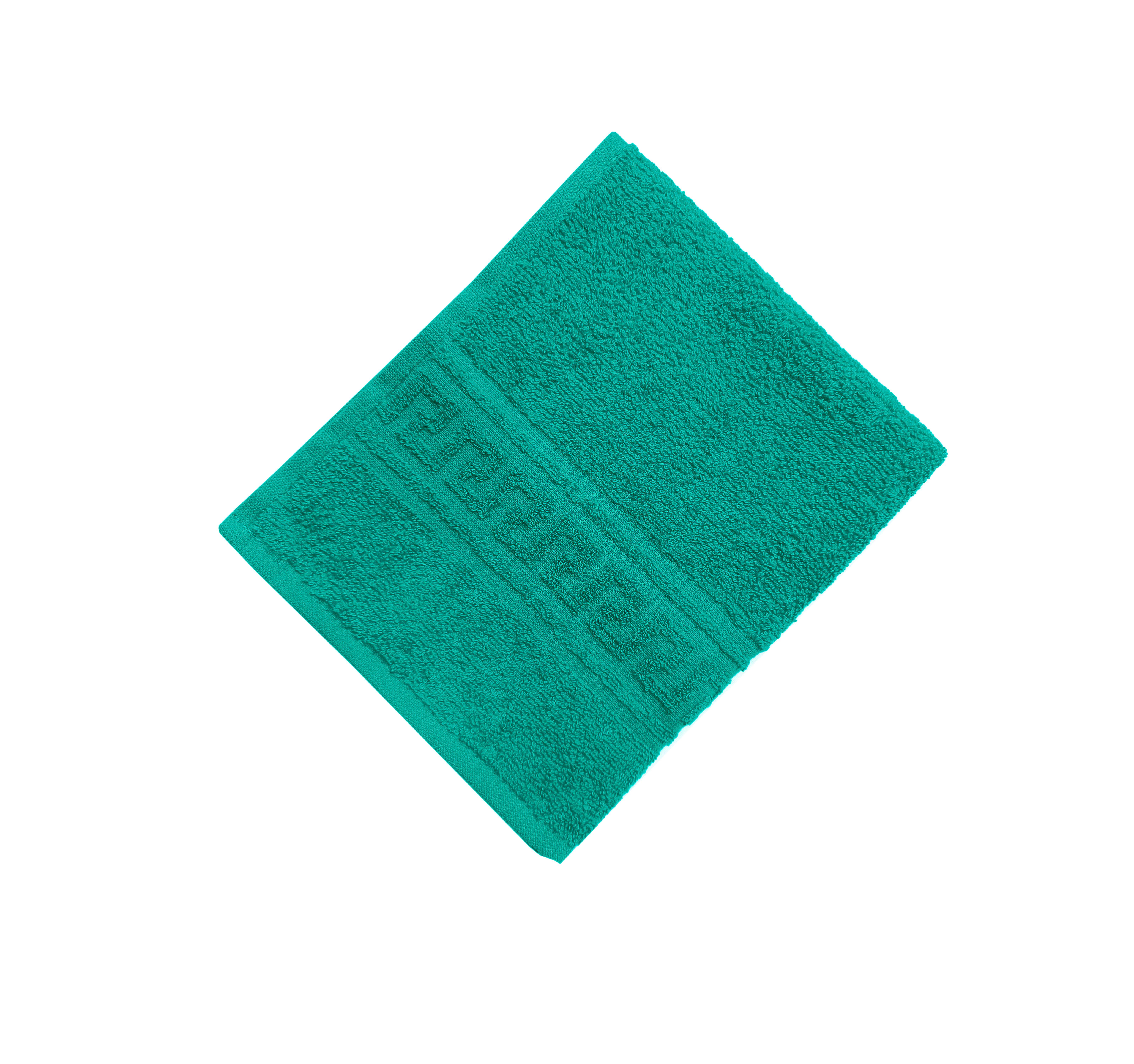 Махровое гладкокрашенное полотенце 70*140 см 380 г/м2 (Темно-зеленый)