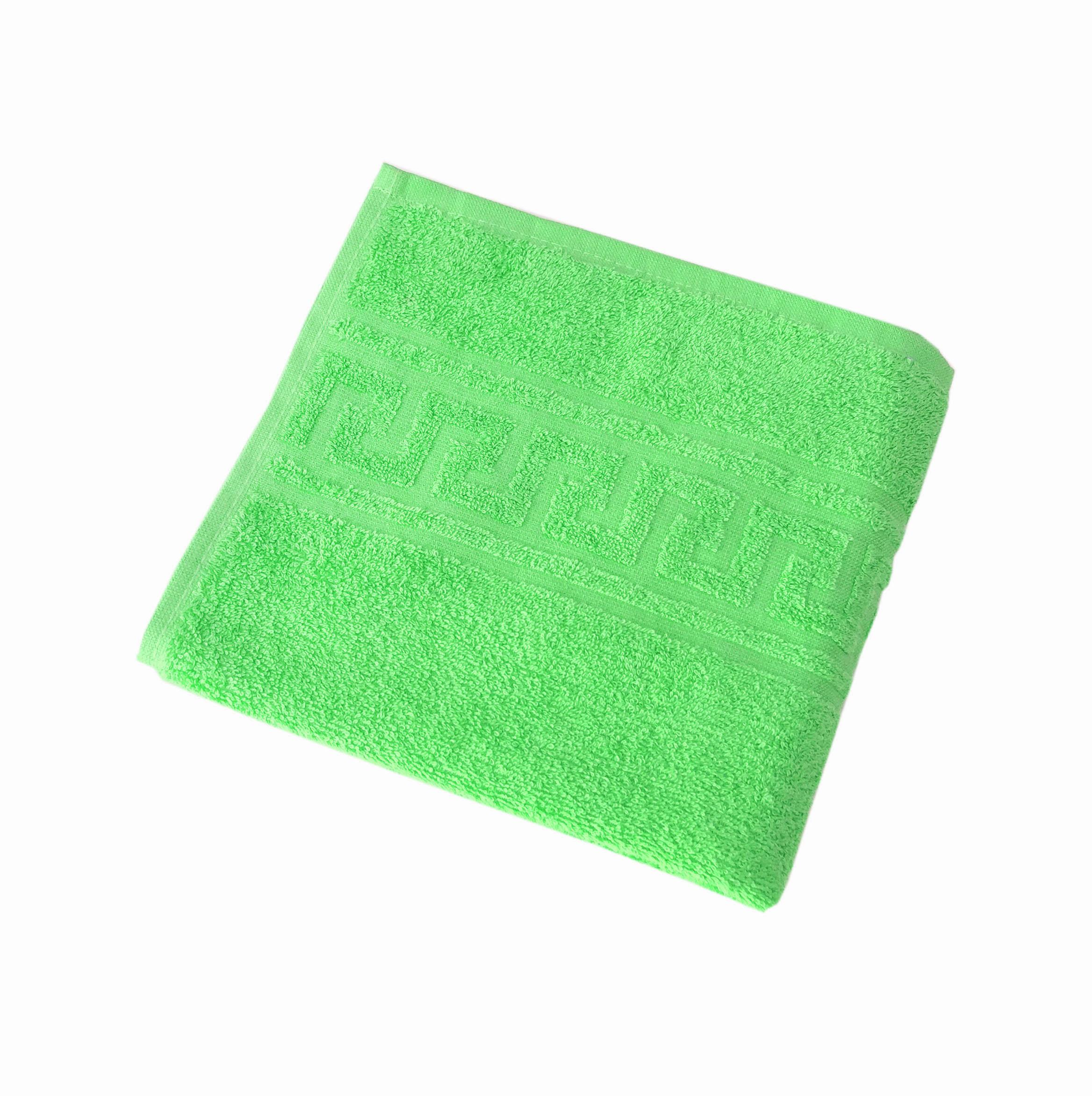 Махровое гладкокрашенное полотенце 50*90 см 380 г/м2 (Салатовый)