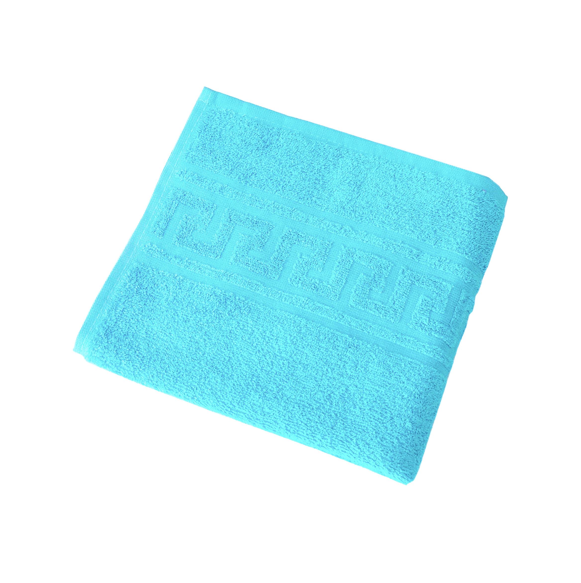 Махровое гладкокрашенное полотенце 50*90 см 380 г/м2 (Ярко-голубой)