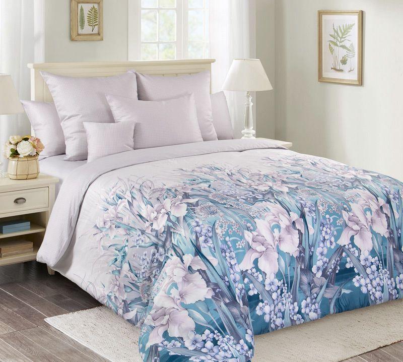 Комплект постельного белья 2-спальный, сатин, с Европростыней (Ненаглядная)