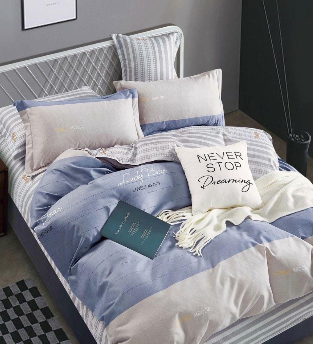 Комплект постельного белья 2-спальный с Евро простыней, поплин (Стиль)
