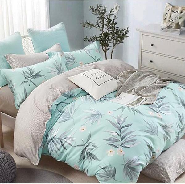 Комплект постельного белья 2-спальный с Евро простыней, поплин (Тайна)