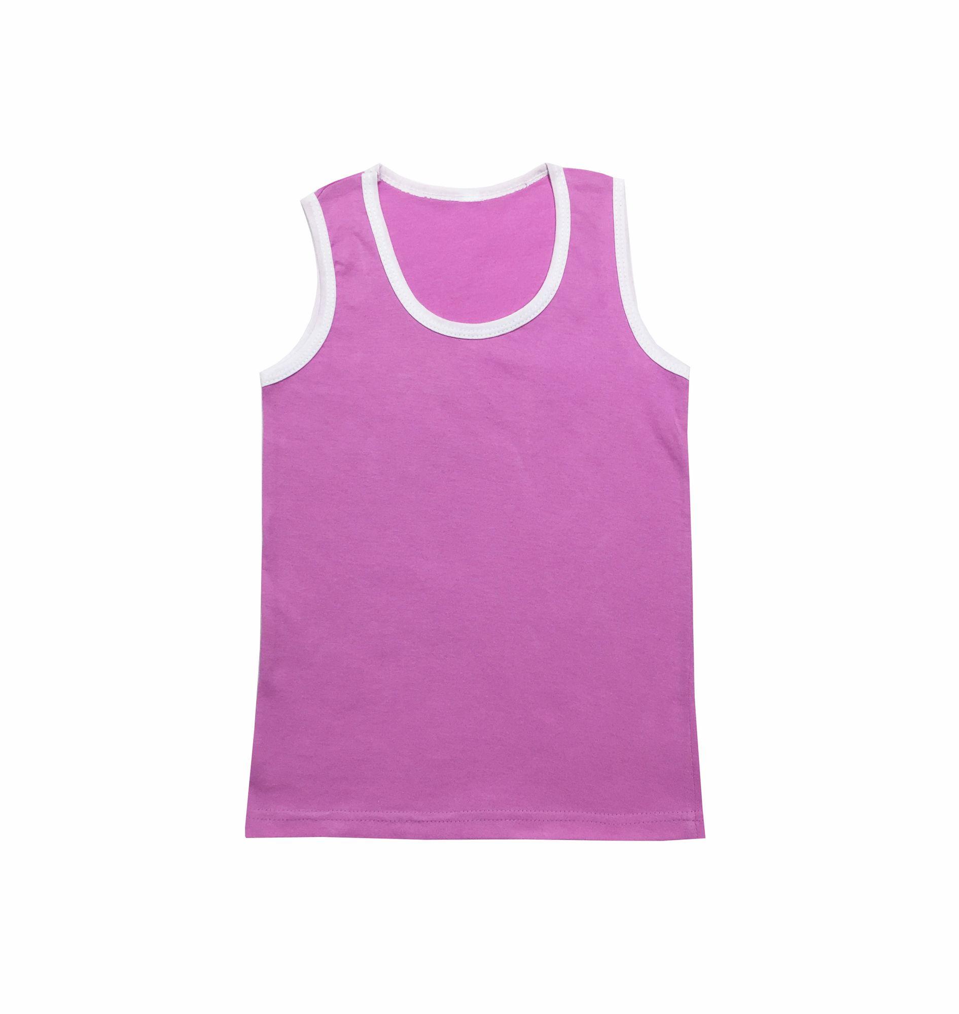 Майка для девочки, модель 323, трикотаж (Розовый)