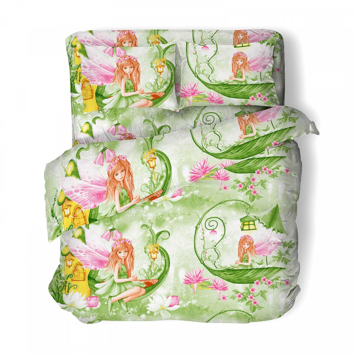 """Комплект постельного белья 1,5-спальный, бязь """"Комфорт"""", детская расцветка (В гости к феечке)"""
