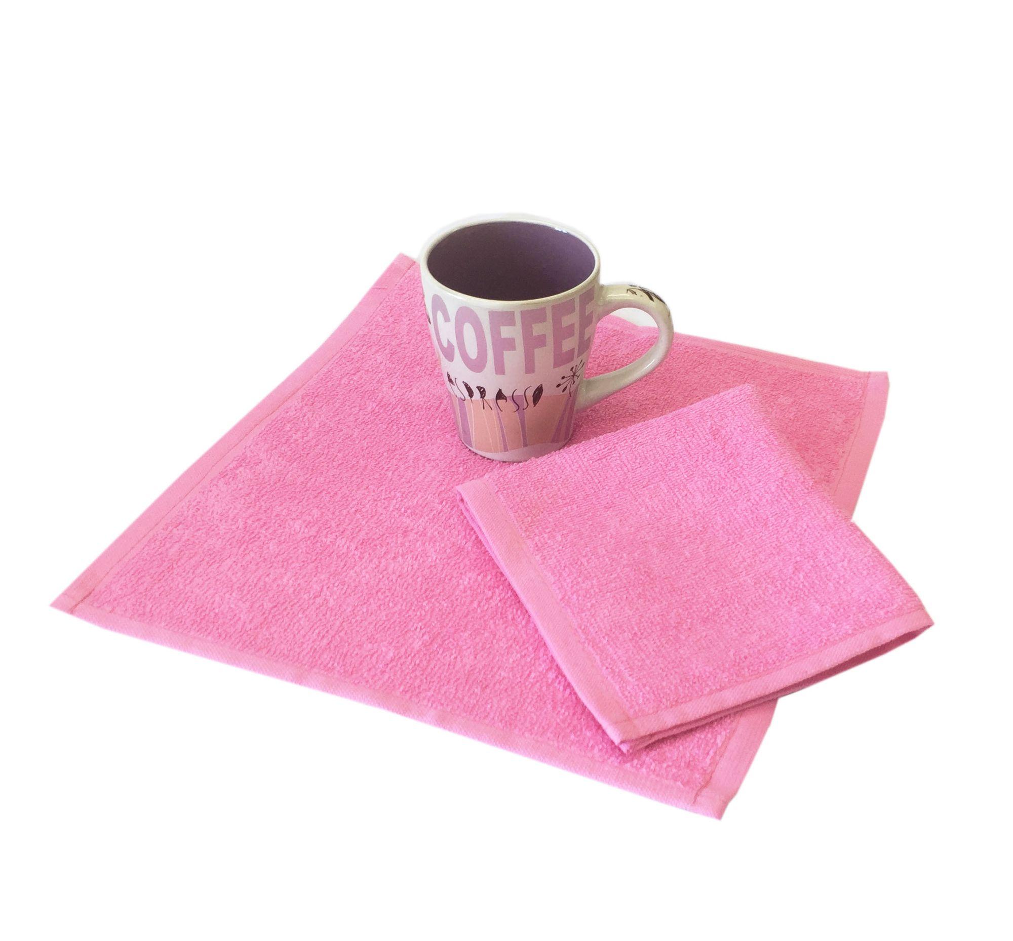 Салфетка махровая, 30*30см, 380 гр (Ярко-розовый)