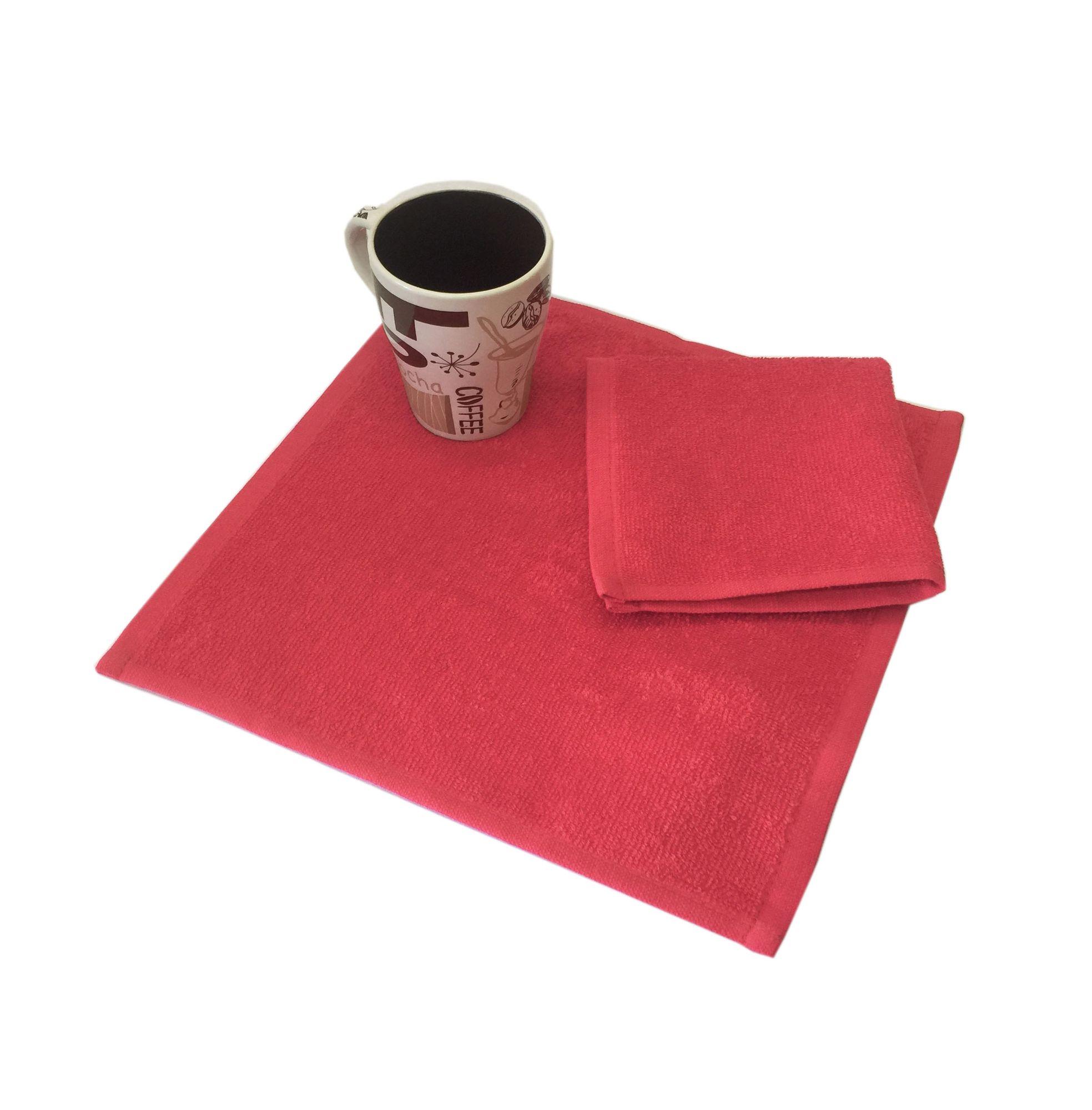 Салфетка махровая, 30*30см, 380 гр (Красный)