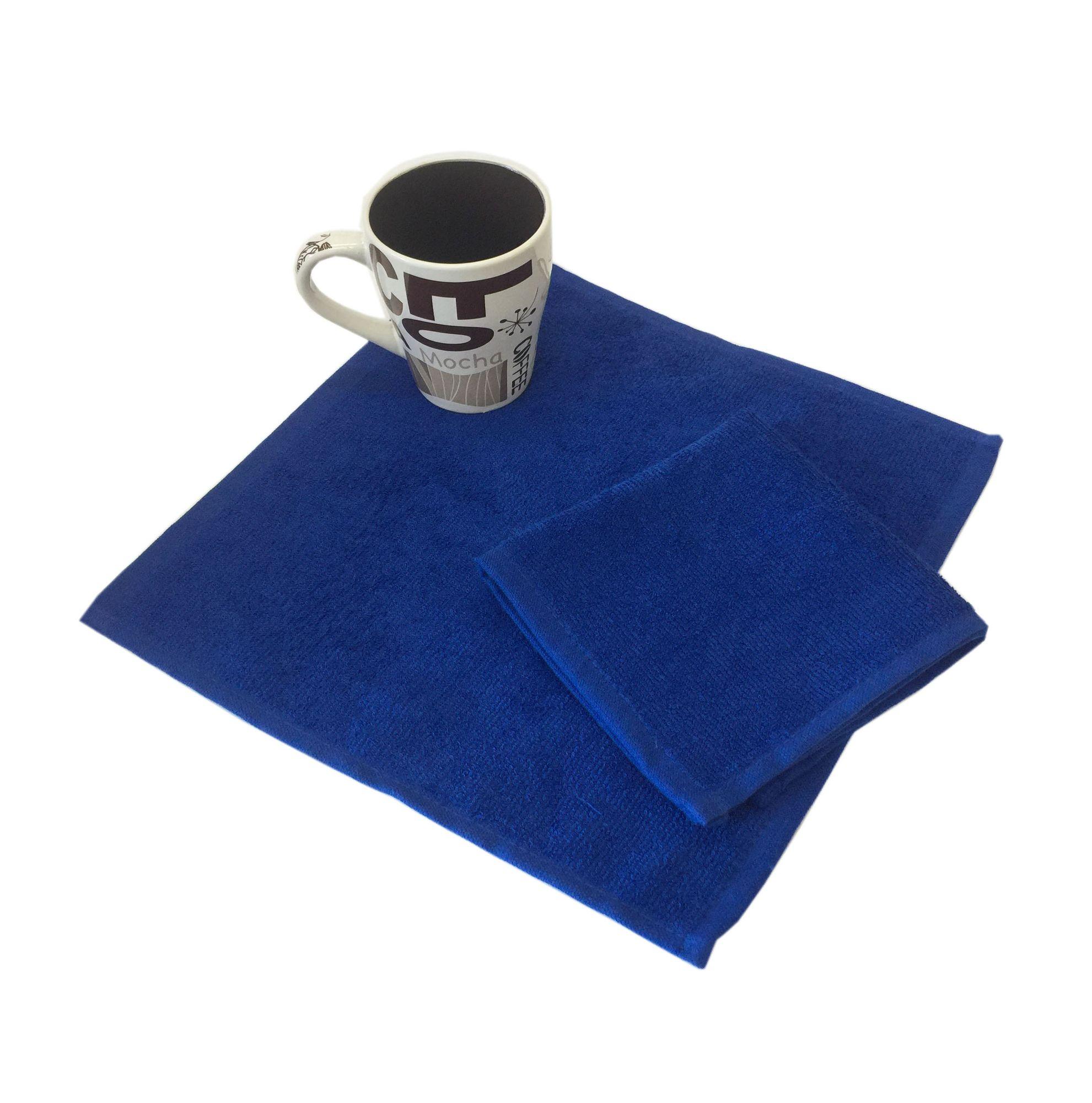 Салфетка махровая, 30*30см, 380 гр (Ярко-синий)