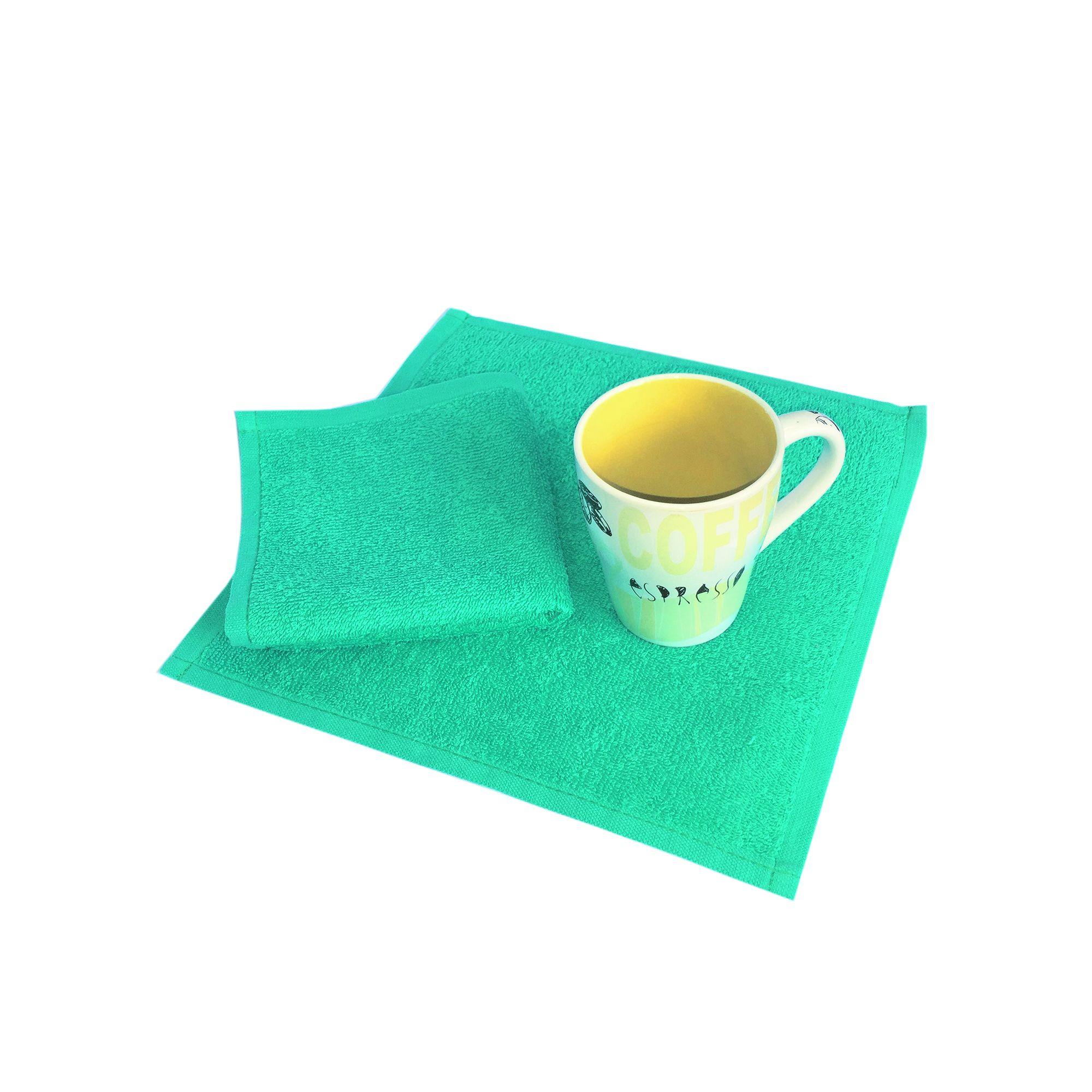 Салфетка махровая, 30*30см, 380 гр (Ярко-зеленый)