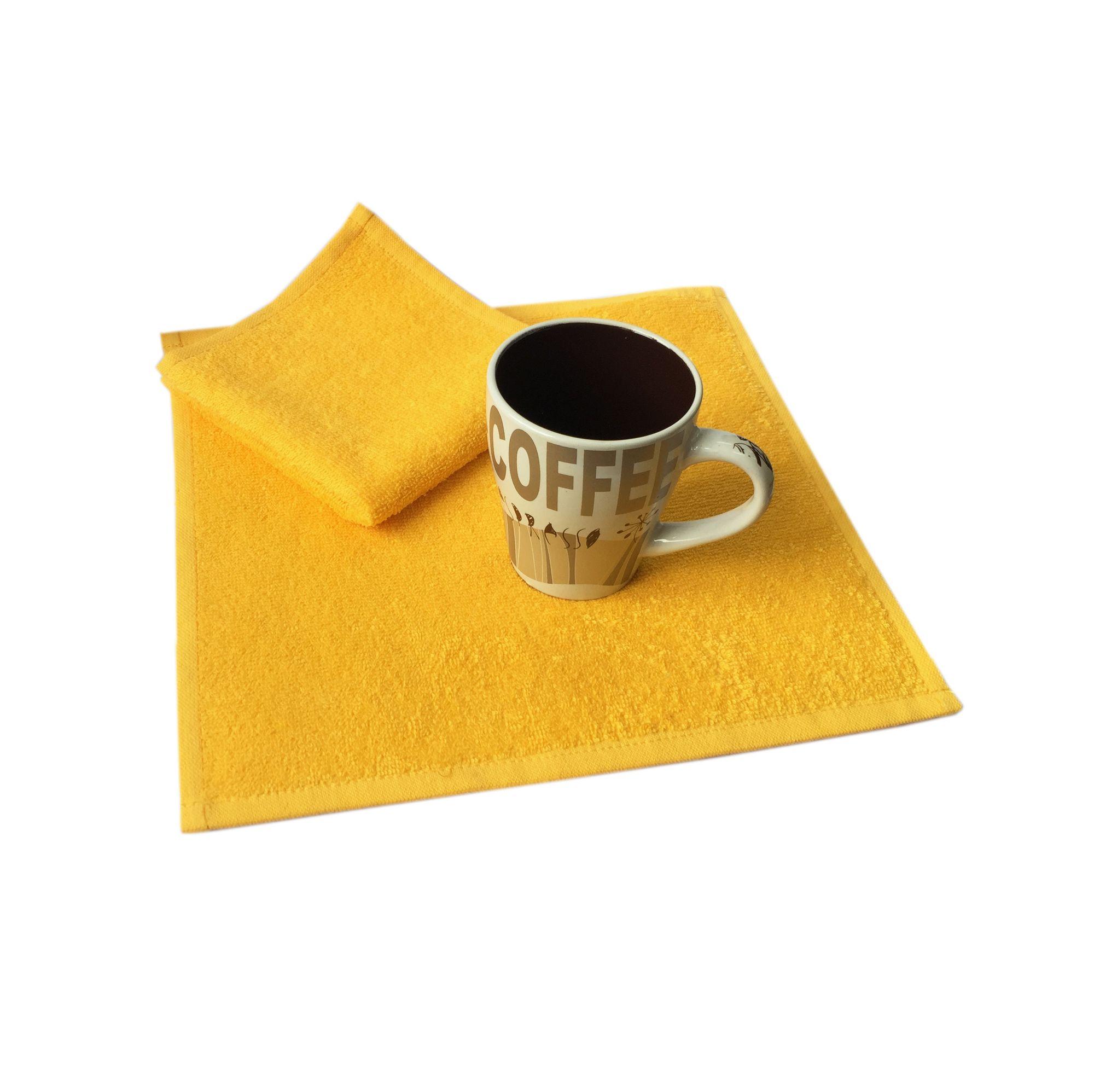 Салфетка махровая, 30*30см, 380 гр (Ярко-желтый)