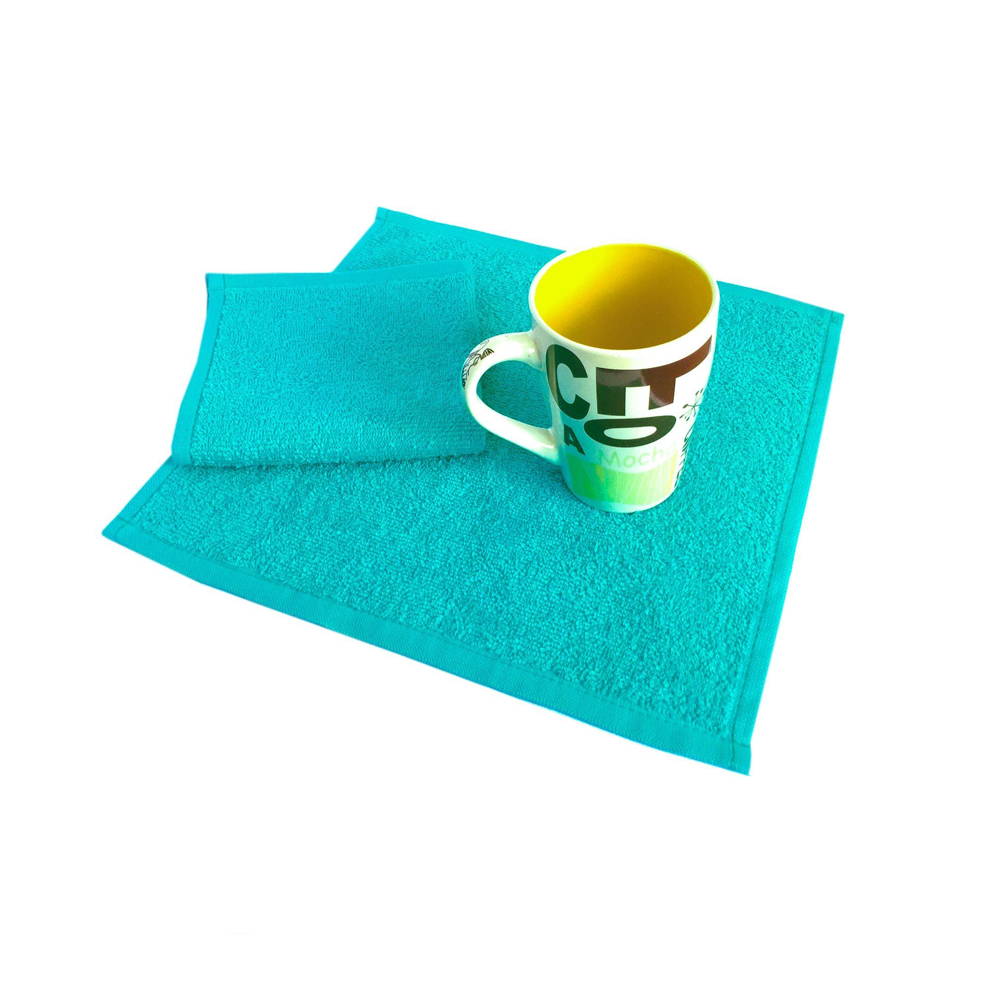 Салфетка махровая, 30*30см, 380 гр (Сине-зеленый)