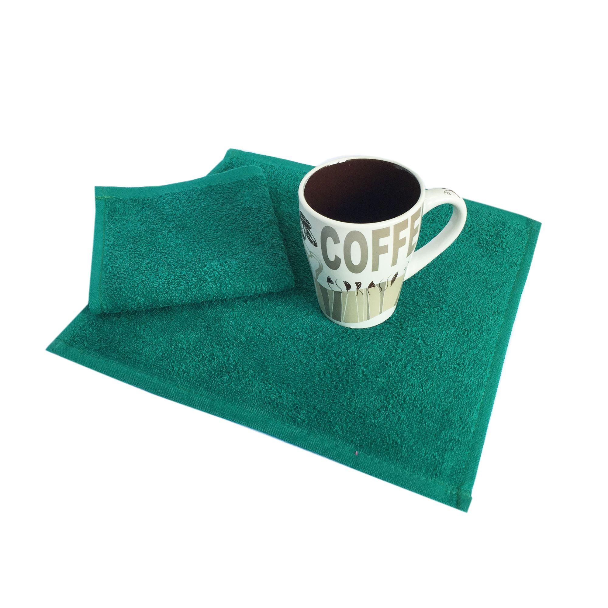 Салфетка махровая, 30*30см, 380 гр (Темно-зеленый)