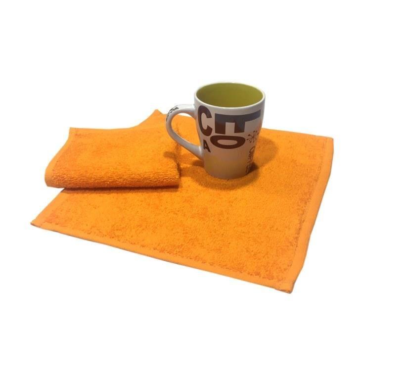 Салфетка махровая, 30*30см, 380 гр (Апельсиновый)