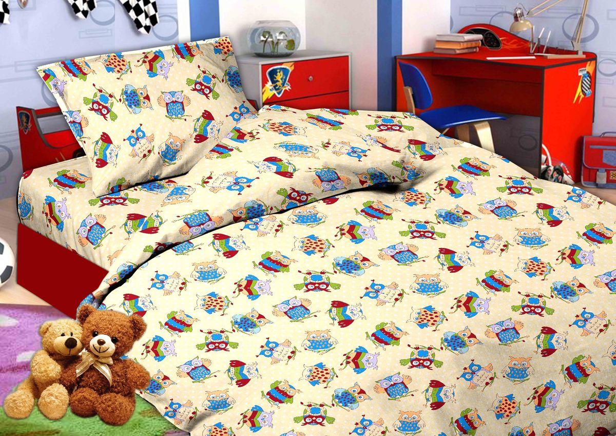 Комплект постельного белья 1,5-спальный, бязь ГОСТ, детская расцветка (Совята)