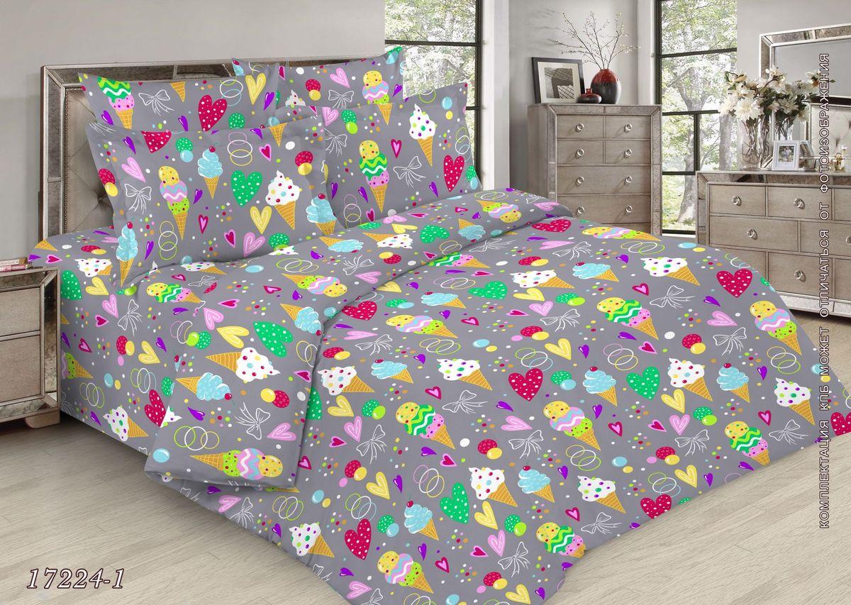 Комплект постельного белья 1,5-спальный, бязь ГОСТ, детская расцветка (Мороженки)