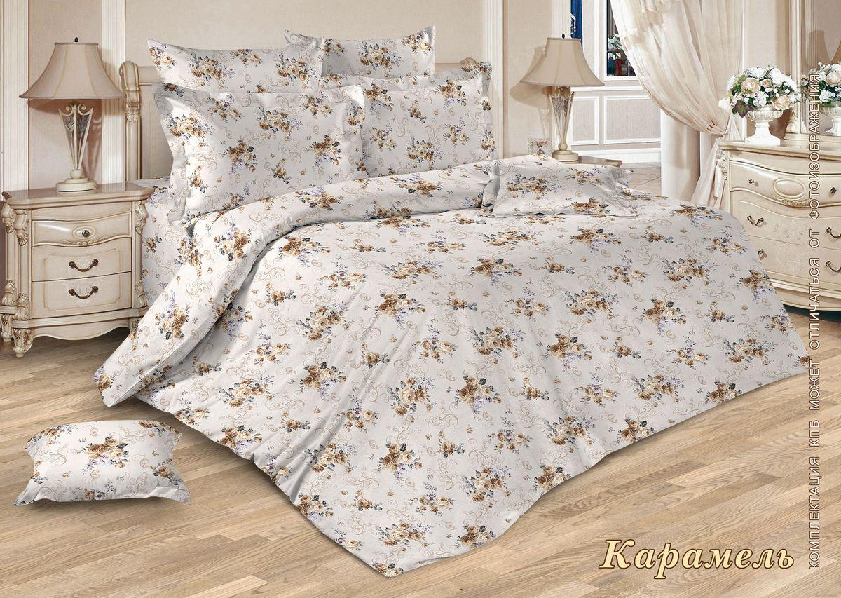 Комплект постельного белья 1,5-спальный, бязь ГОСТ (Карамель)