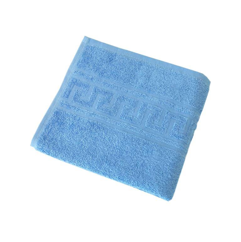 Махровое гладкокрашенное полотенце 70*140 см 380 г/м2 (Голубой)