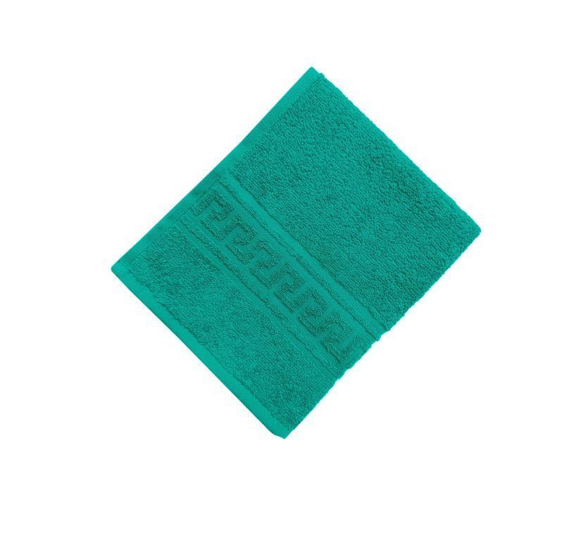 Махровое гладкокрашенное полотенце 50*90 см 380 г/м2 (Темно-зеленый)