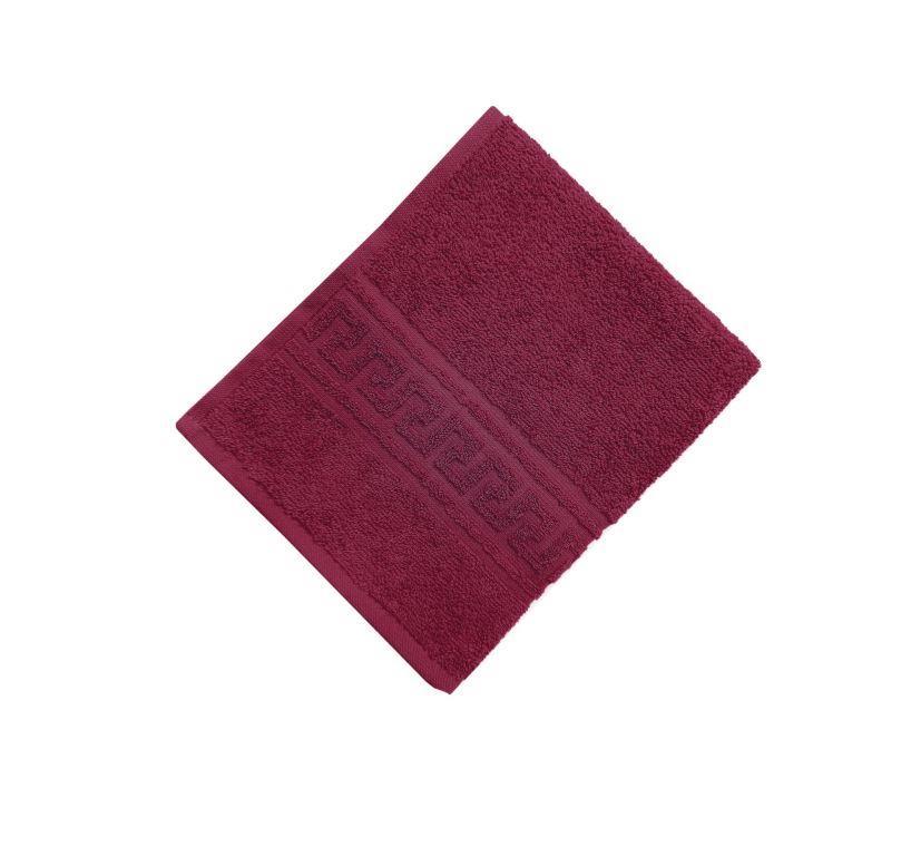 Махровое гладкокрашенное полотенце 50*90 см 380 г/м2 (Бордовый)
