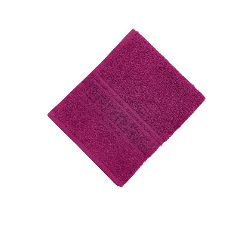 Махровое гладкокрашенное полотенце 50*90 см 380 г/м2 (Фуксия)