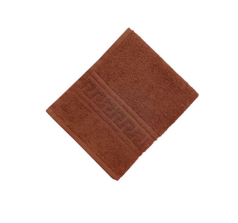 Махровое гладкокрашенное полотенце 50*90 см 380 г/м2 (Шоколадный)