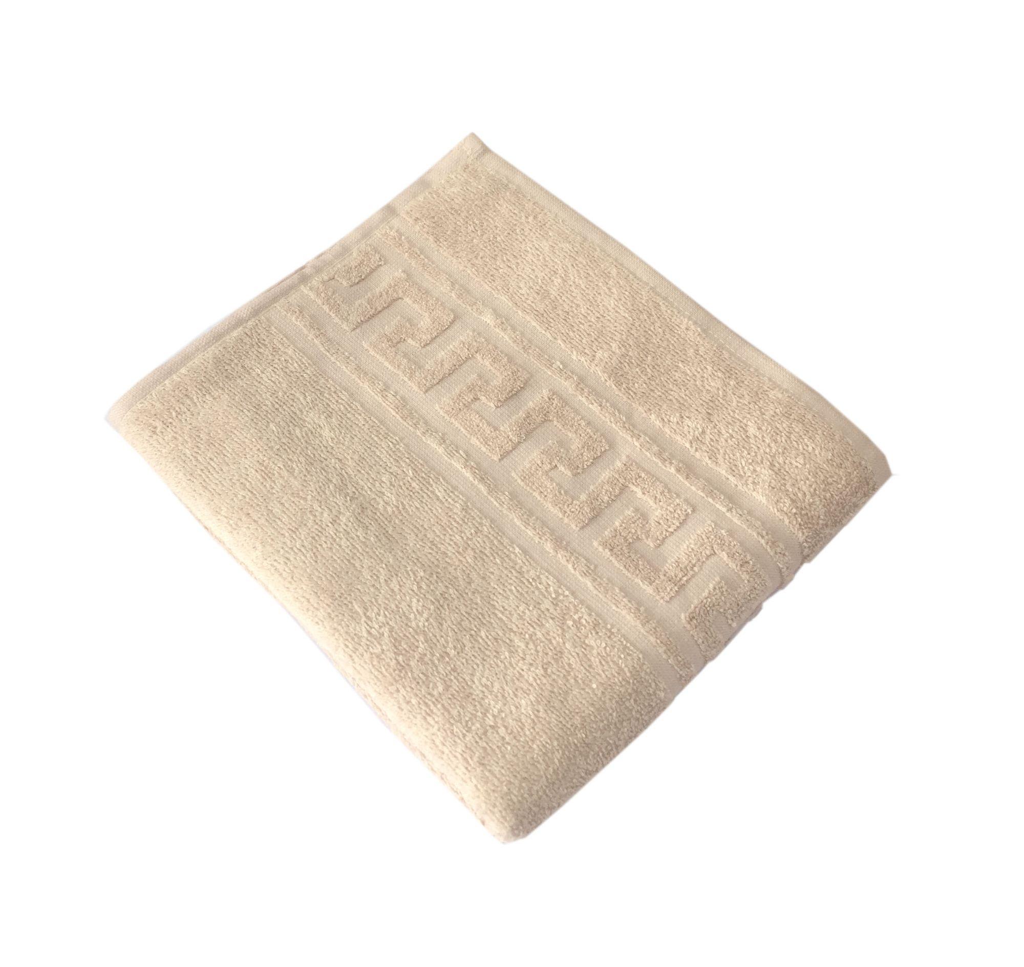 Махровое гладкокрашенное полотенце 50*90 см 380 г/м2 (Бежевый)